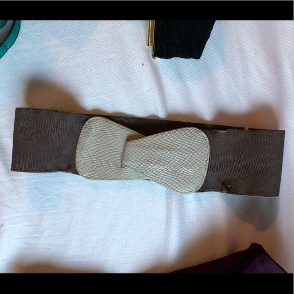 Grey BCBG Stretch Belt